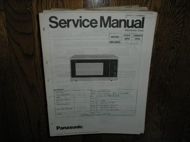NN-6953 Microwave Oven Service Manual