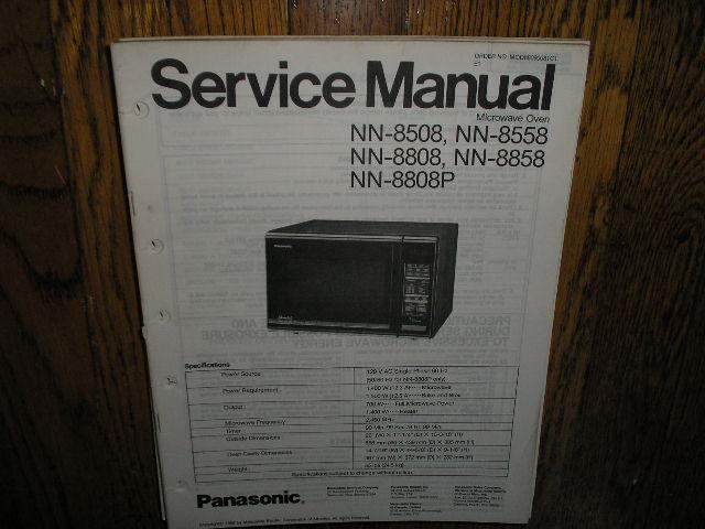 Panasonic Nn 8508 Nn 8558 Nn 8808 Nn 8808p Nn 8858