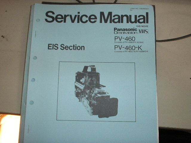 PV-460 EIS Section VHS Camcorder Service Manual
