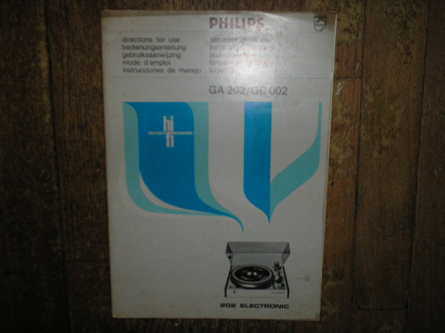 GA202 GC002 Turntable Service Manual 3  PHILIPS