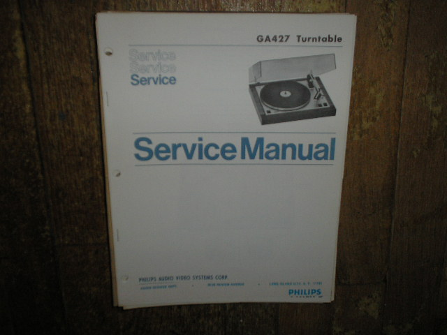 Philips NAP GA427 Turntable Service Manual