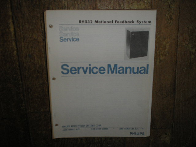 Philips RH532 Monitor Feedback Speaker System Service Manual