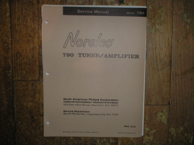 Philips Norelco 790 Stereo Tuner Amplifier Service Manual