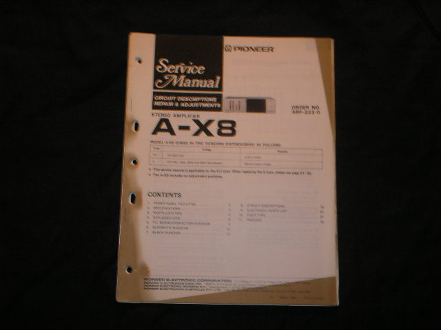 A-X8 Amplifier Service Manual