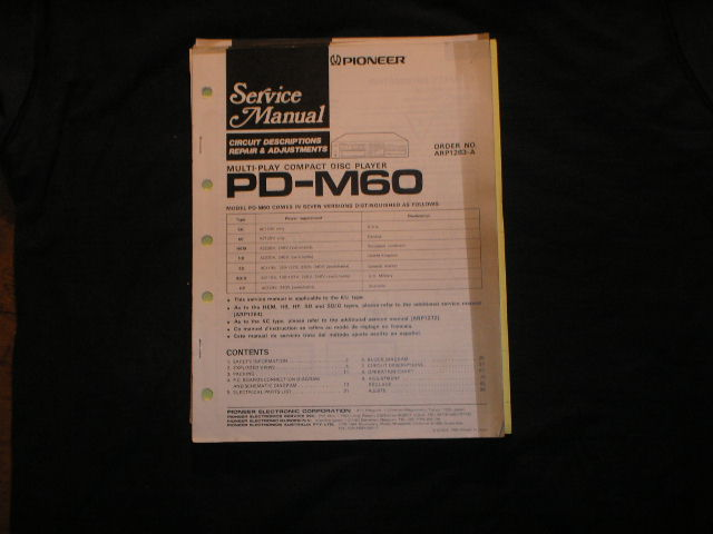 PD-M60 CD Player Service Manual