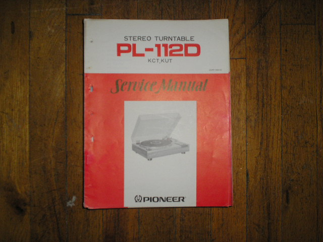 PL-112D KUT KCT   Turntable Service Manual  ART-164-0