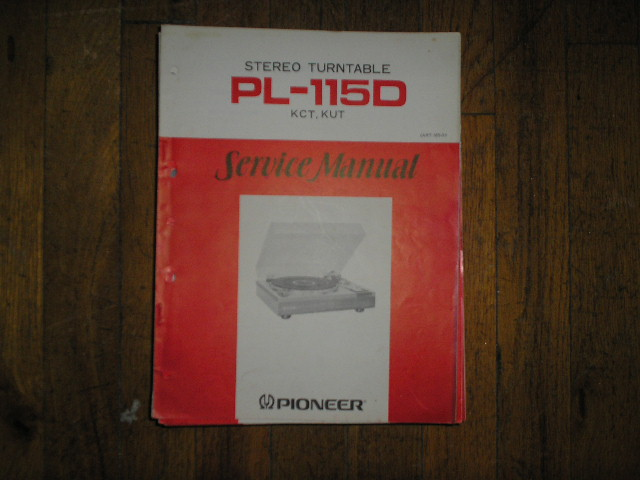PL-115D KUT KCT   Turntable Service Manual  ART-165-0