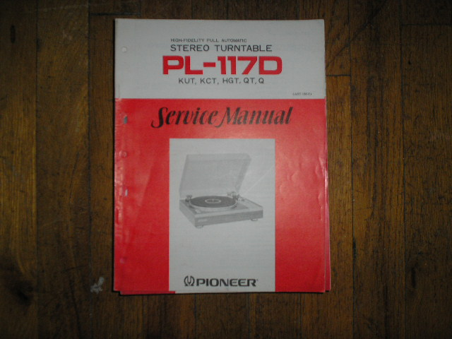 PL-117D KUT KCT HGT QT   Turntable Service Manual  ART-166-0
