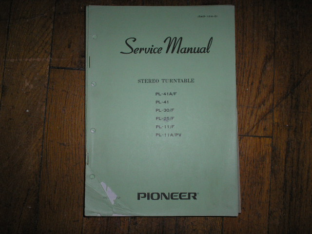 PL-41A PL-41A F  Turntable Service Manual R42-104-0