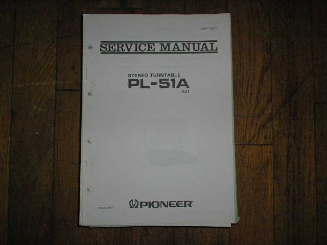 PL-51A PL-51A KUT   Turntable Service Manual  ART-126-0
