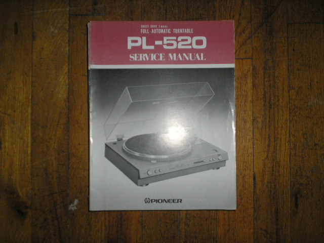 PL-520 Turntable Service Manual  ART-259-0