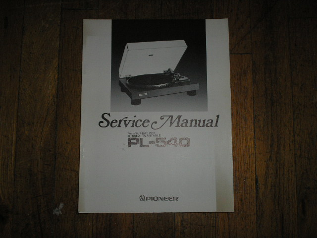 PL-540 Turntable Service Manual  ART-324-0