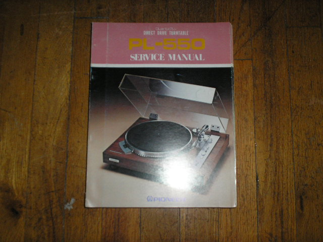 PL-550 Turntable Service Manual  ART-209-0