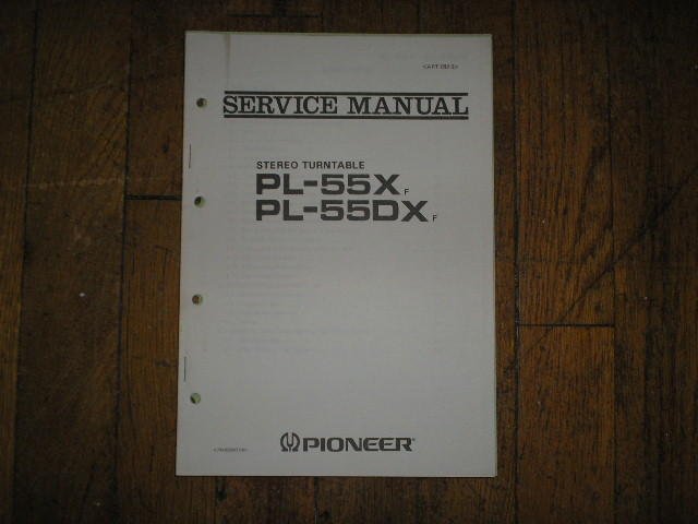 PL-55X F PL-55DX F  Turntable Service Manual 