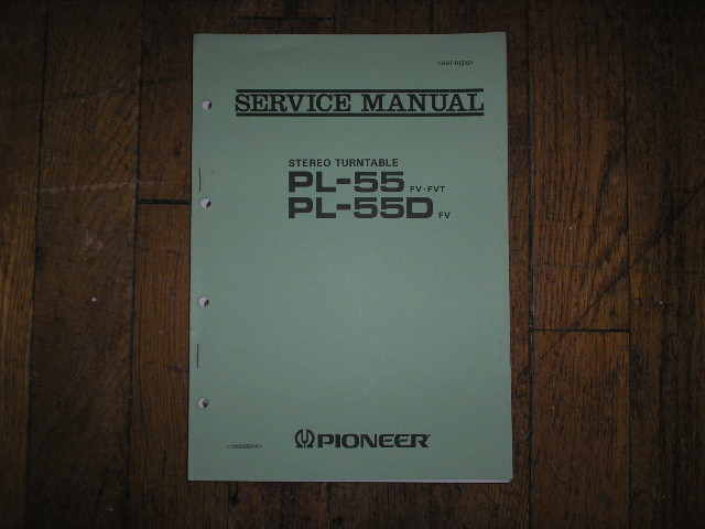 PL-55 FV FVT PL-55D FV  Turntable Service Manual 