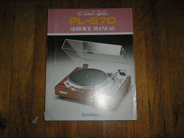 PL-570 Turntable Service Manual  ART-210-0