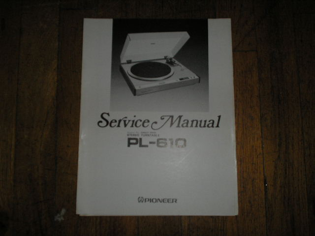 PL-610 Turntable Service Manual  ART-326-0