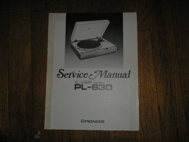 PL-630 Turntable Service Manual  ART-314-0