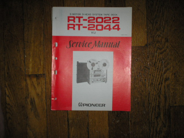 RT-2022 RT-2044 Reel to Reel Service Manual  Pioneer