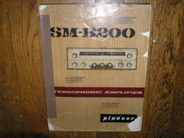 SM-B200 Receiver Old Style Service Manual  PIONEER RECEIVERS