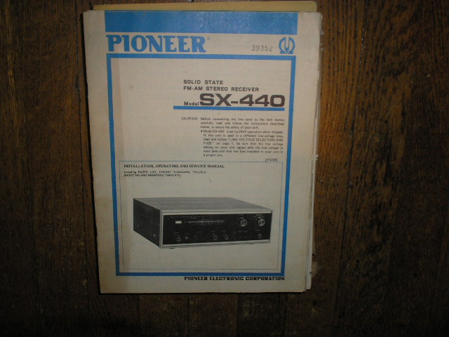 SX-440 FVW Receiver Service Manual  PIONEER RECEIVERS