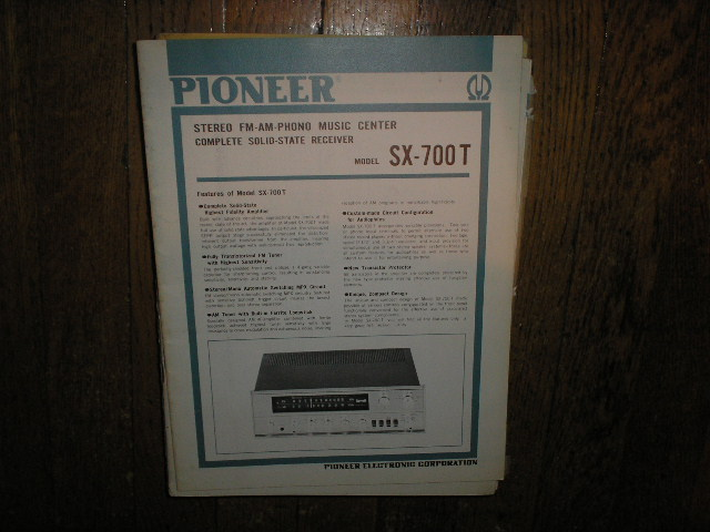 SX-700T Receiver Service Manual  PIONEER RECEIVERS
