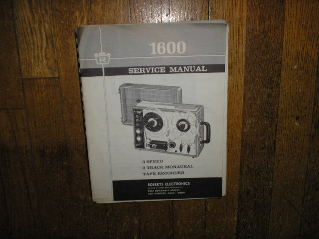 1600 Stereo Reel to Reel Tape Deck Service Manual