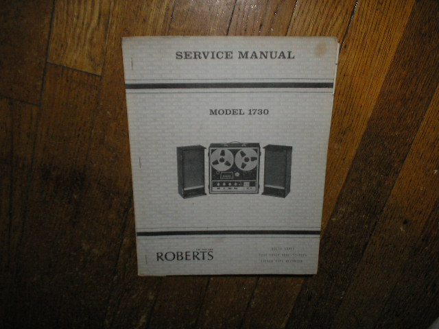 1730 4-Track Stereo Reel to Reel Tape Deck Service Manual  ROBERTS