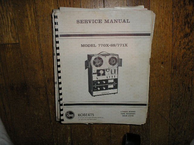 770X-SS 771X Stereo Reel to Reel Tape Deck Service Manual