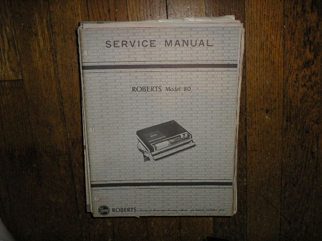 80 Stereo Cassette Tape Deck Service Manual