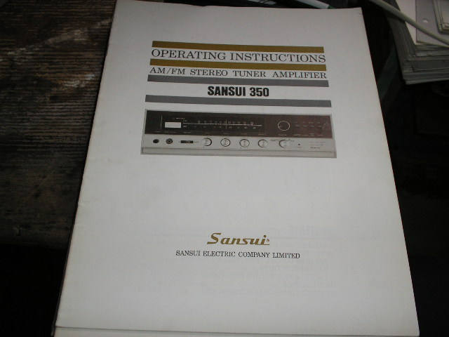 350 AM FM Tuner Amplifier Operating Instruction Manual
