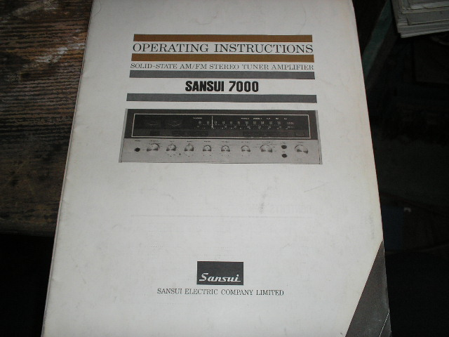 7000 Receiver Operating Instruction Manual