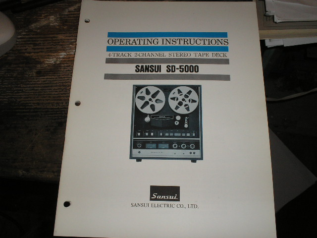 SD-5000 Reel To Reel Owners Manual  Sansui
