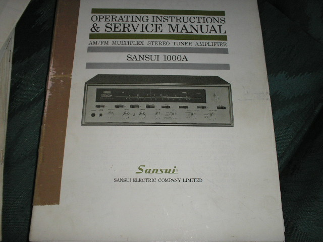 1000A Tuner-Amplifier Service Instruction Manual