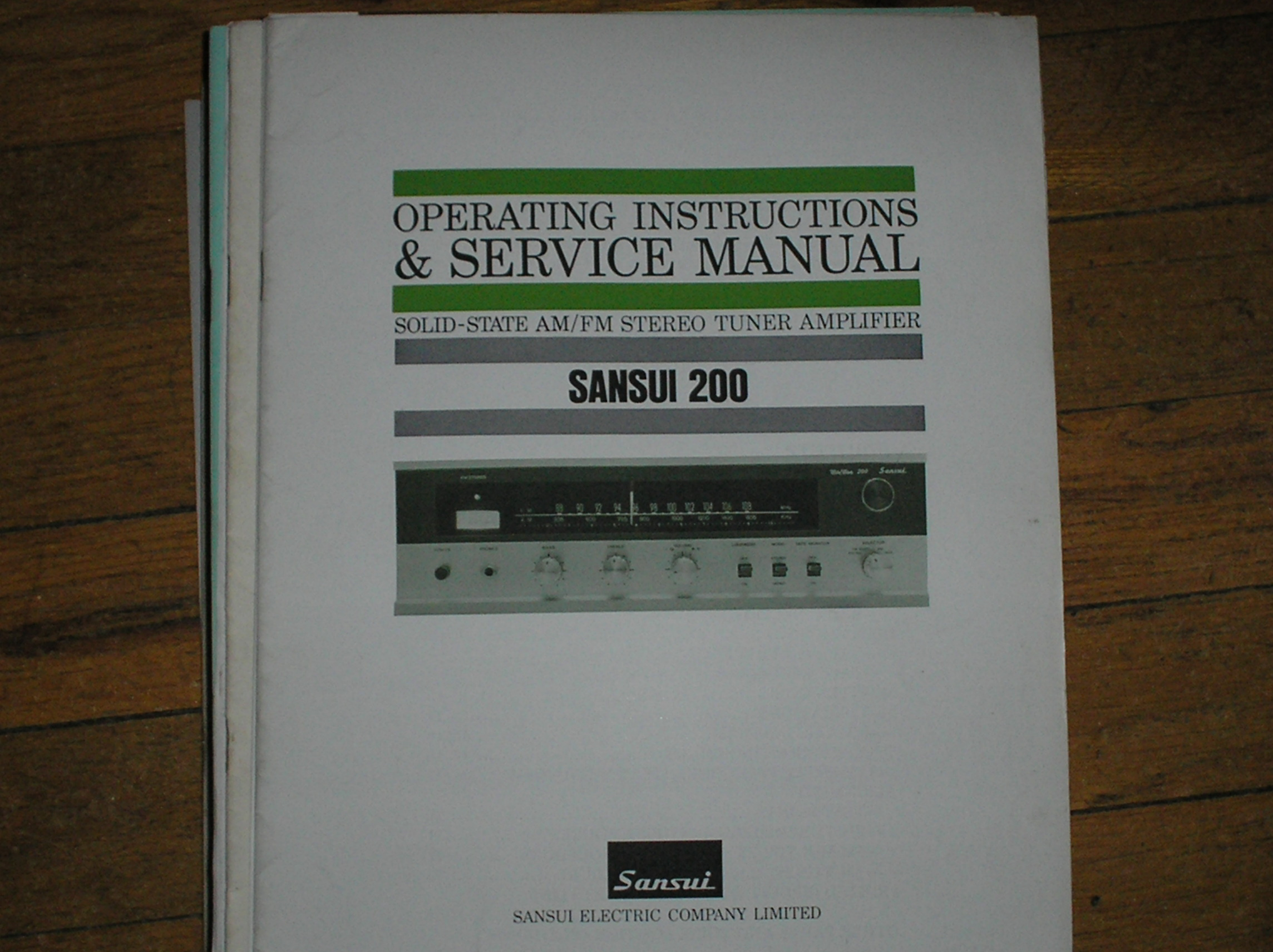 200 Tuner Amplifier Instruction Manual