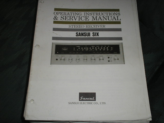 6 Six Receiver Service Instruction Manual