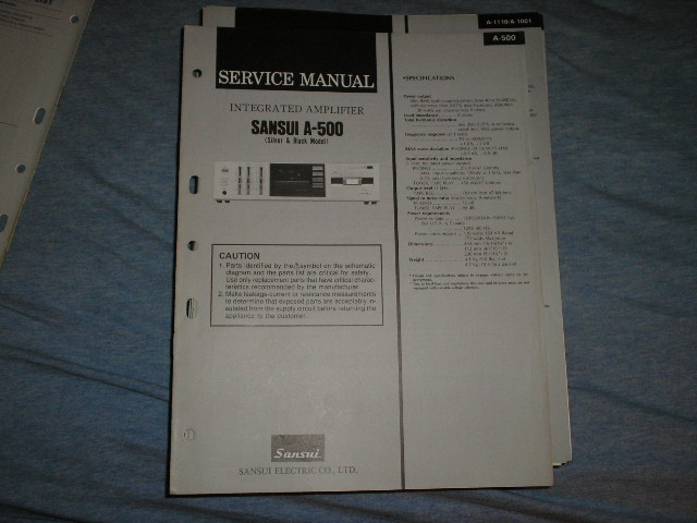 A-500 Amplifier Service Manual
