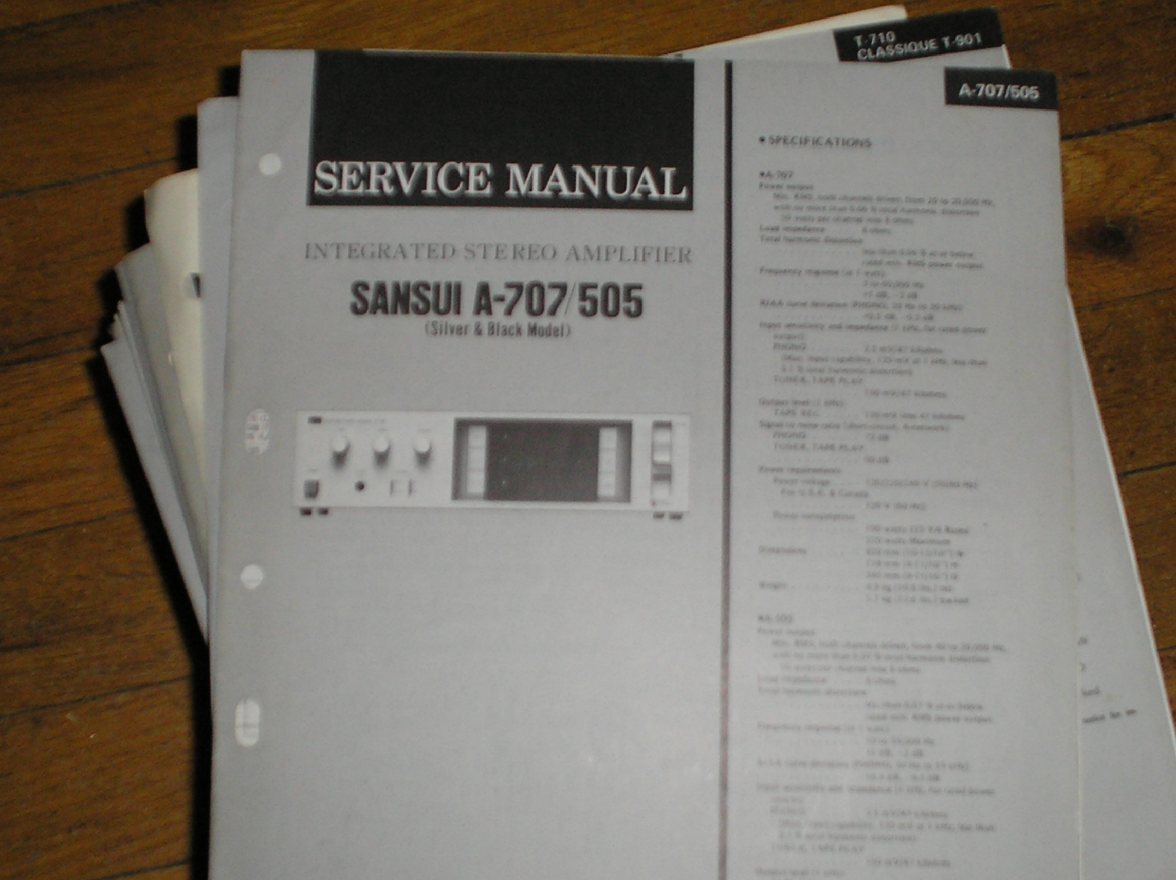 A-505 A-707 Amplifier Service Manual