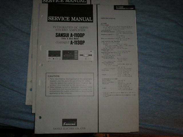 A-1100P A-1130P Amplifier Service Manual
