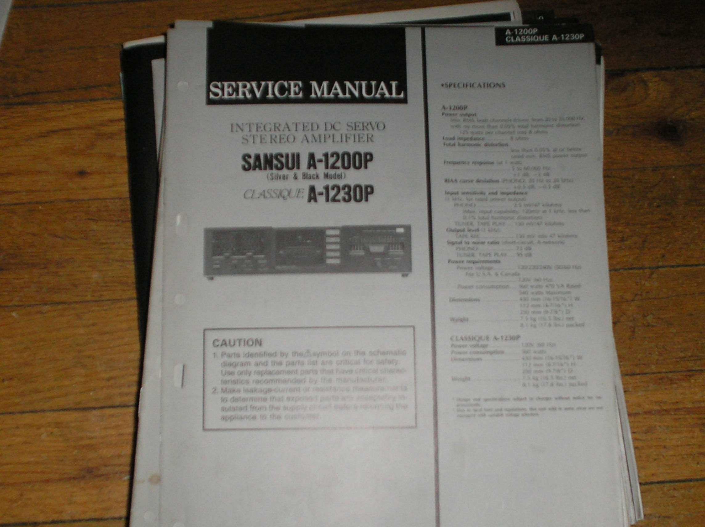A-1200P A-1230P Amplifier Service Manual