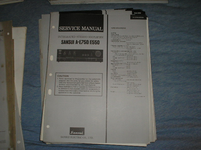 sansui a e550 a e750 amplifier service manual. Black Bedroom Furniture Sets. Home Design Ideas