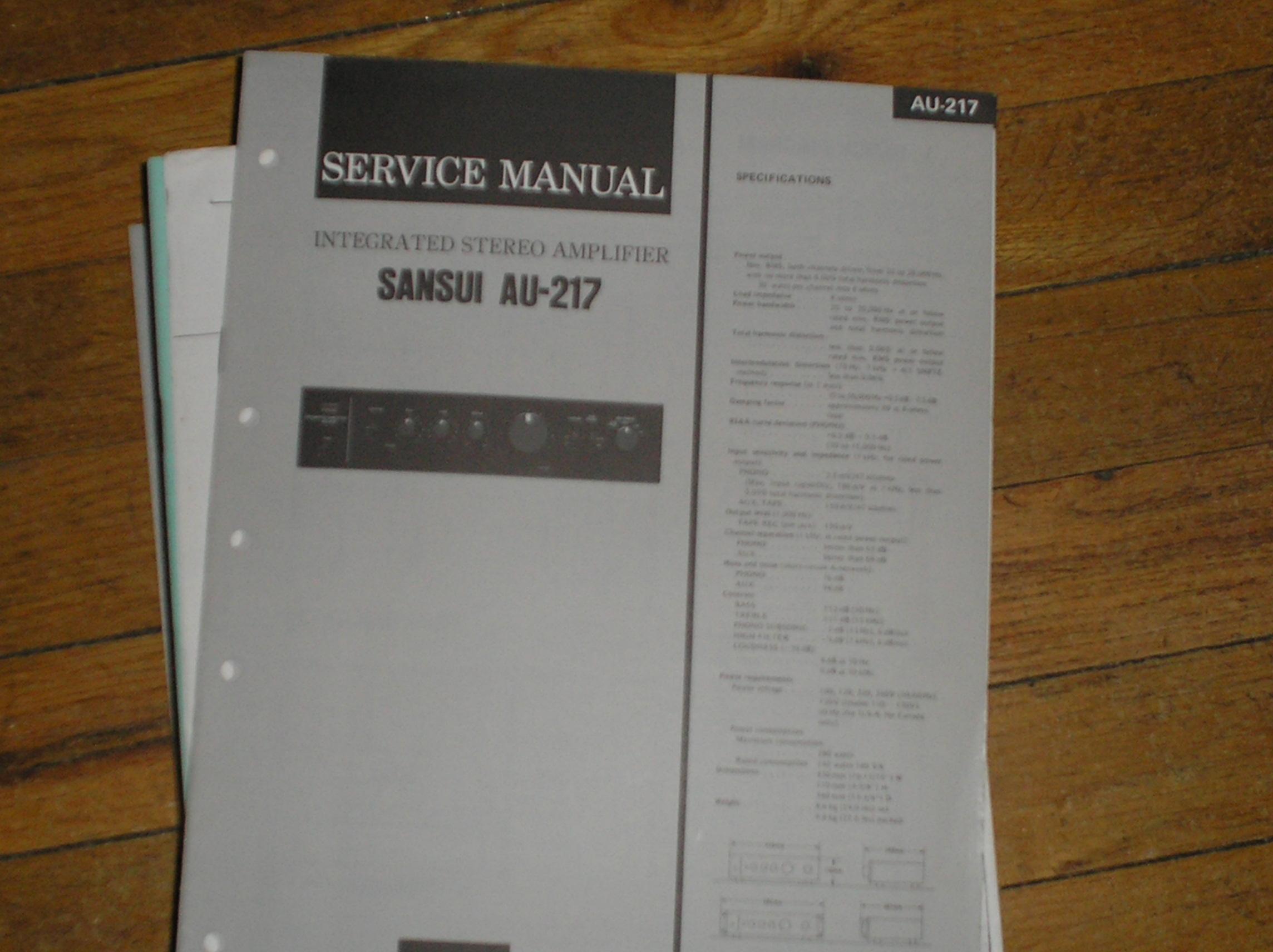 AU-217 Amplifier Service Manual