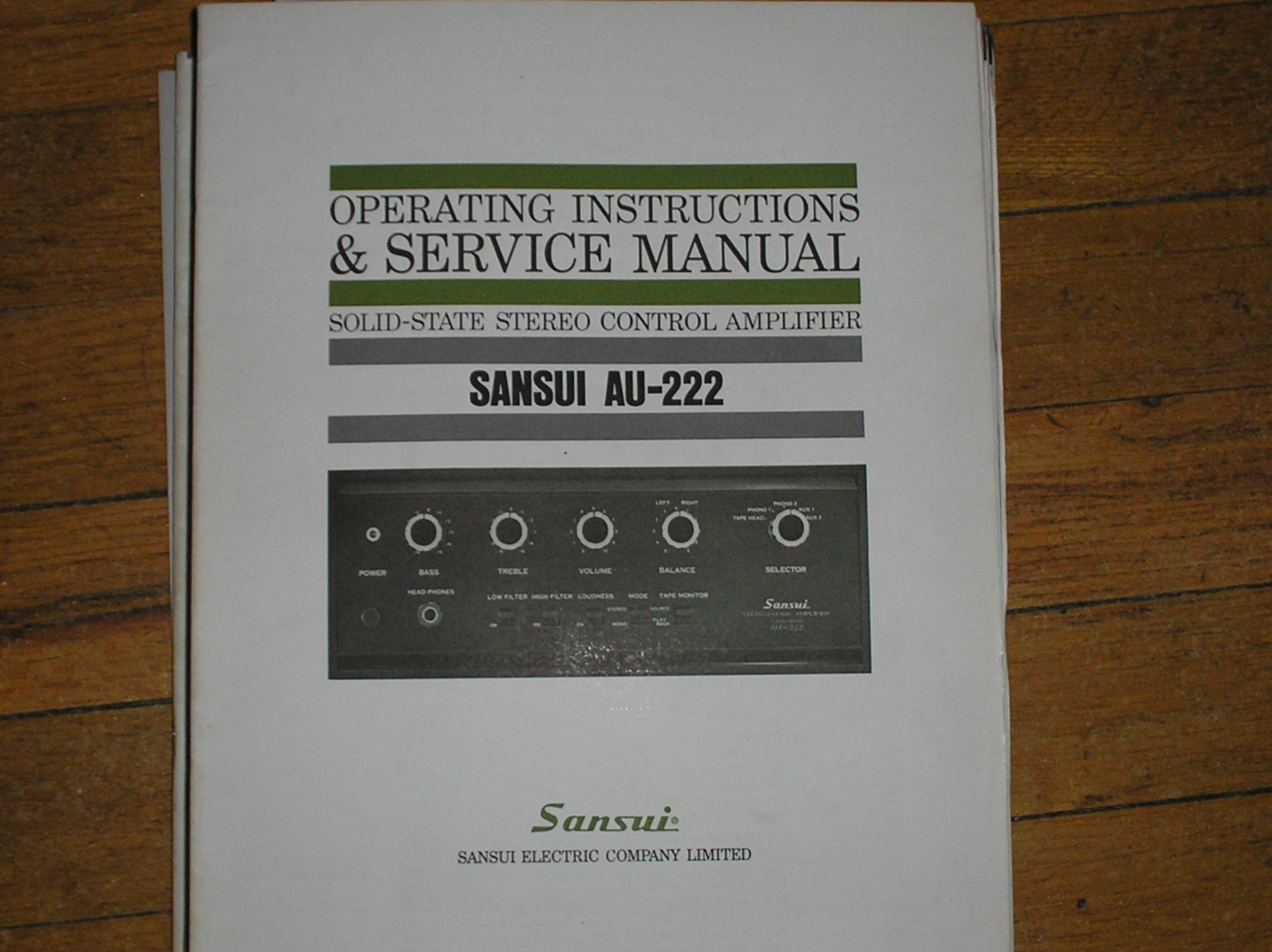 AU-222 Amplifier Service Instruction Manual