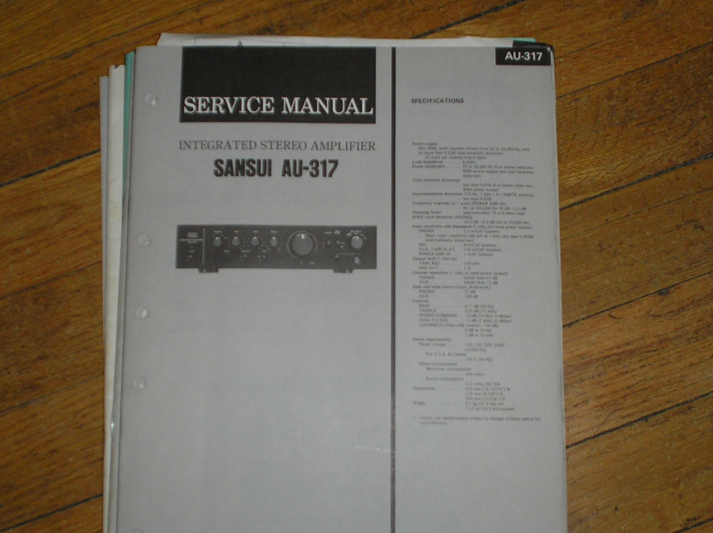 AU-317 Amplifier Service Manual