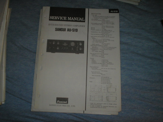 AU-519 Amplifier Service Manual