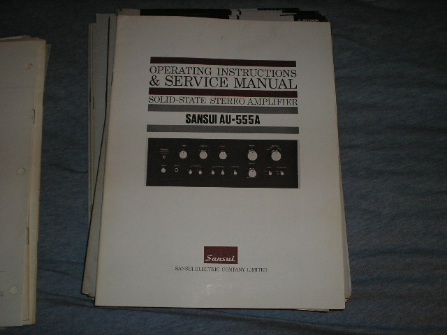 AU-555A Amplifier Operating Instruction Manual