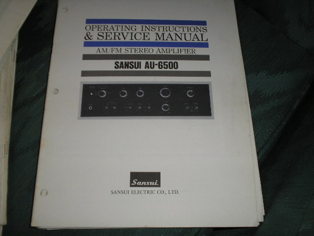AU-6500 Amplifier Operating Instruction Service Manual