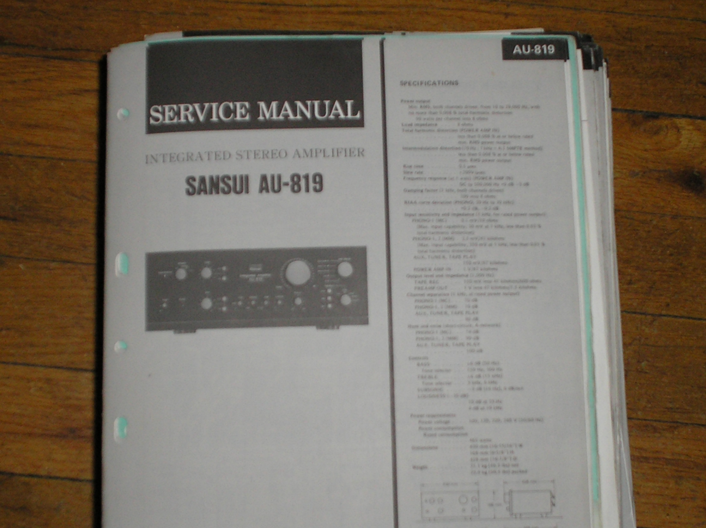 AU-819 Amplifier Service Manual