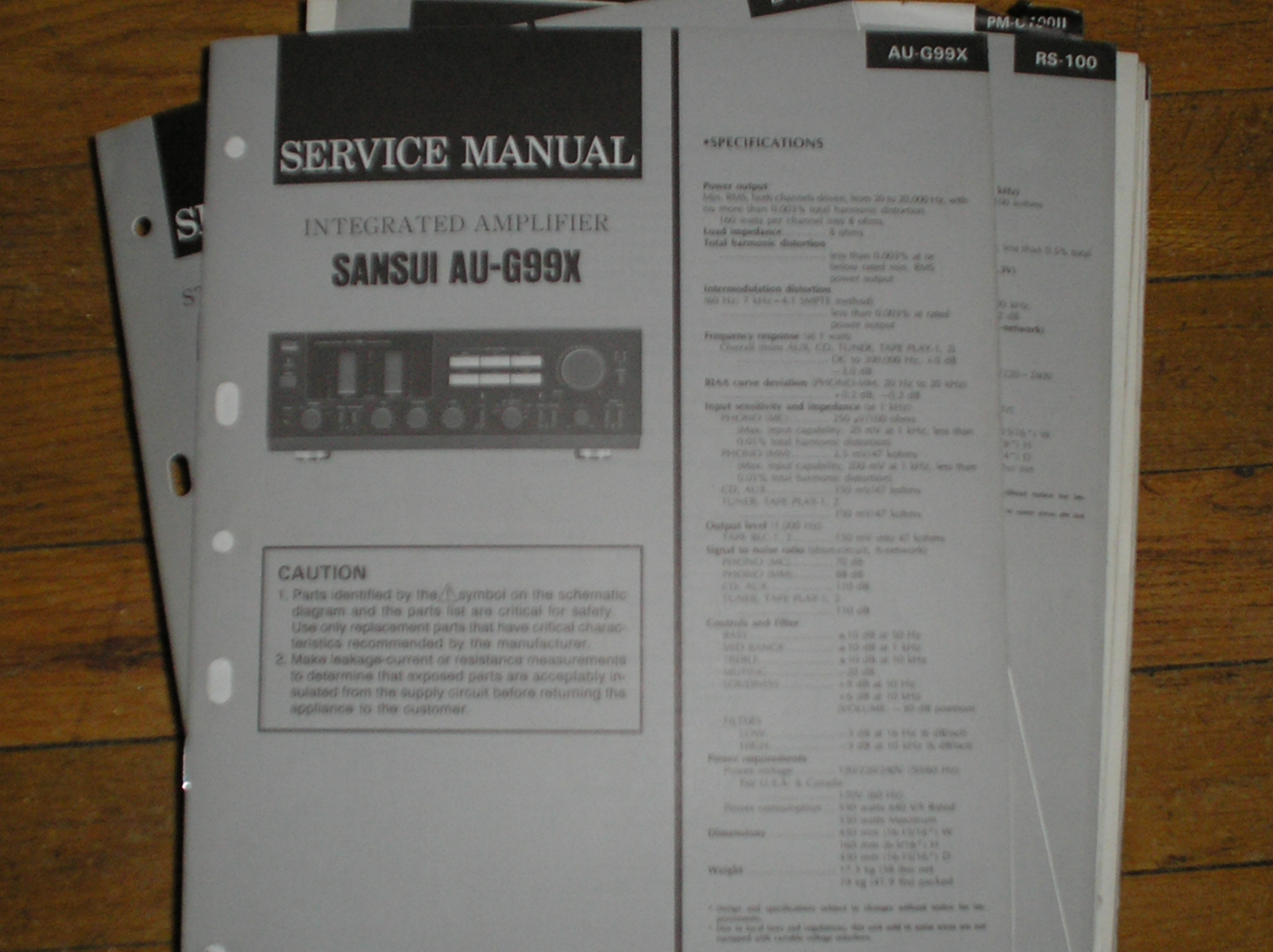 AU-G99X Amplifier Service Manual