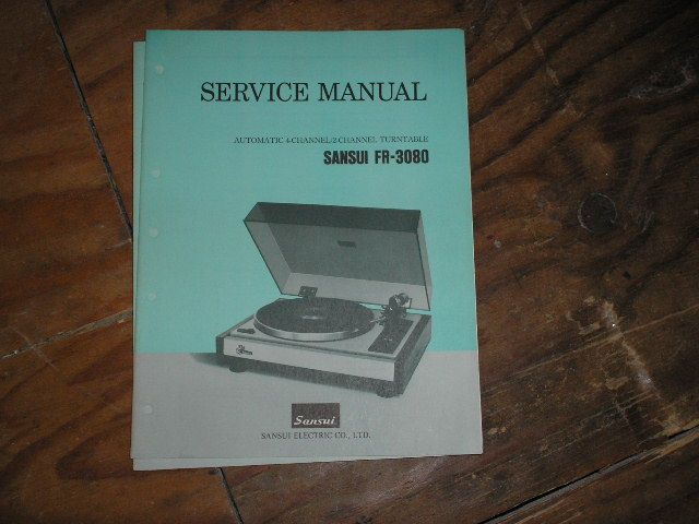 FR-3080 Turntable Service Manual